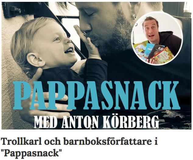 Barnboksförfattare Daniel Karlsson gästar PappaSnack med Anton Körberg